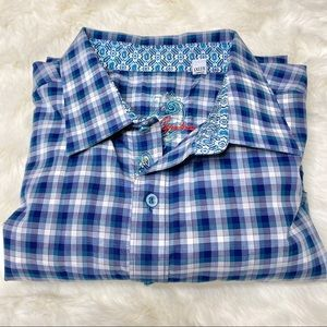 Robert Graham Plaid Button Down Shirt 1XL